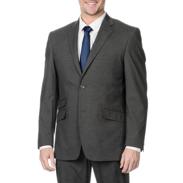Perry Ellis Men's Slim Fit Medium Grey Stripe Suit Separate Blazer