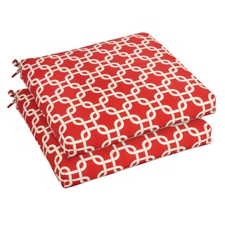 Bristol 20-inch Indoor/ Outdoor Knotted Red Chair Cushion Set