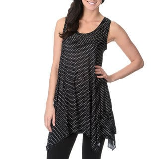 Sweet Juliet Women's Dot Print Racer Back Lounge Tunic Top