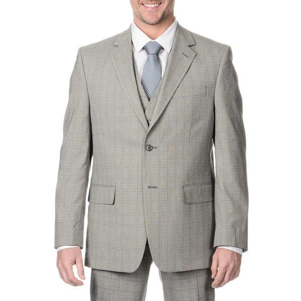 Perry Ellis Men's Slim Fit Grey Plaid Suit Separate Blazer