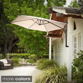 Christopher Knight Home Outdoor Veracruz Folding Wall Canopy Umbrella