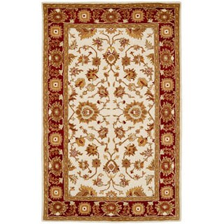 Paragon Ivory/ Red Wool Rug (8' x 11')