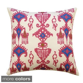 20 x 20-inch Ikat Outdoor Throw Pillow (India)