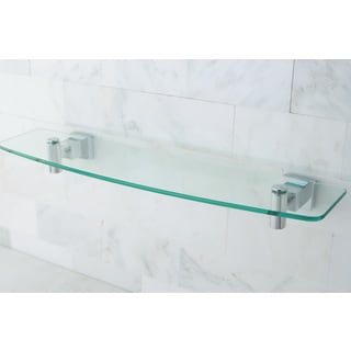 Chrome/ Glass Bathroom Shelf