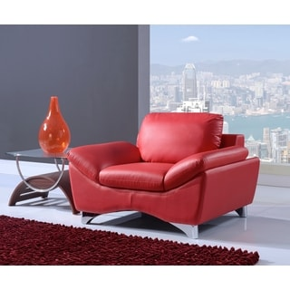 Natalie Red Leather Chair