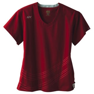 IguanaMed Women's Merlot Dual Swirl Scrubs Top