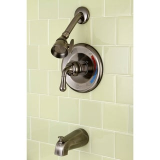 Vintage Nickel Brass Bathtub and Shower Faucet