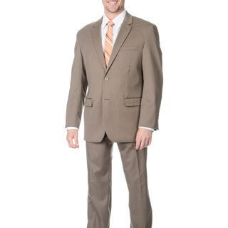 Martino Men's 'Wool Rich' Tan Wool Blend Suit