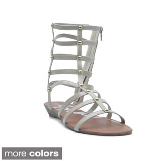 Blue Women's 'Cleo-G' Ankle-height Gladiator Sandals