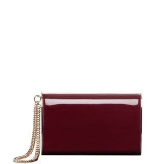 Jimmy Choo 'Carmen' Ruby Patent Leather Clutch with Chain Wristlet