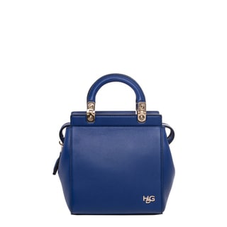 Givenchy Mini Royal Blue Grained Leather Top-handle Tote
