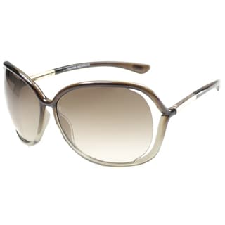 Tom Ford Women's 'TF76 Raquel 38F' Transparent Sunglasses