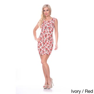 White Mark Women's Floral Sheath Dress
