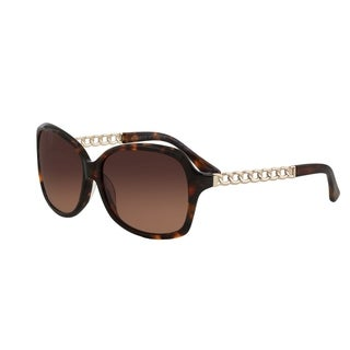 Vernier Women's Square Tortoise Rope Chain Arm Sunglasses
