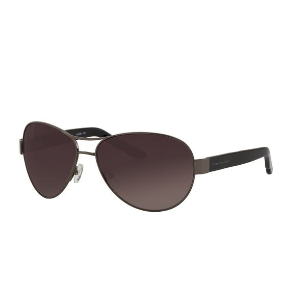 Vernier Women's Gunmetal Aviator Sunglasses