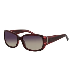 Vernier Women's Oblong Burgundy Sunglasses
