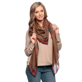Red and Green Bordered Boutique Style Scarf