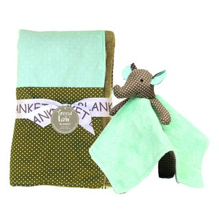 Trend Lab 2-piece Blanket Set in Cocoa Mint