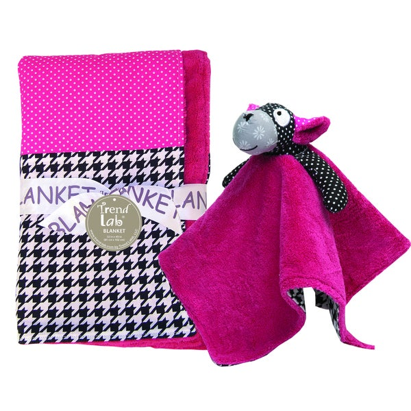 Trend Lab 2-piece Houndstooth Blanket Set