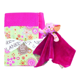 Trend Lab 2-piece Pink Elephant Blanket Set