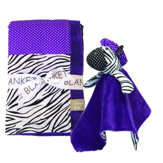 Trend Lab 2-piece Grape Expectations Blanket Set