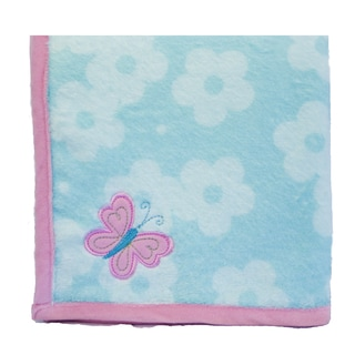 Nurture Imagination Wings Printed Applique Blanket in Pink