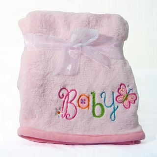 Nurture Imagination My ABC's Pink Plush Applique Blanket
