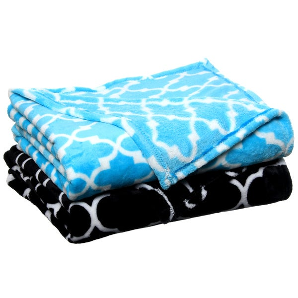 Gatework Luxury Plush Printed Throw
