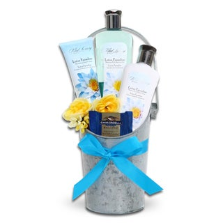 Alder Creek Gift Baskets Lotus Paradise Spa Bucket
