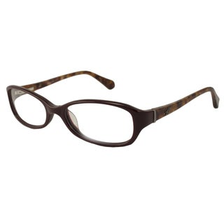 Kenneth Cole Readers Women's KC182 Burgundy Rectangular Reading Glasses