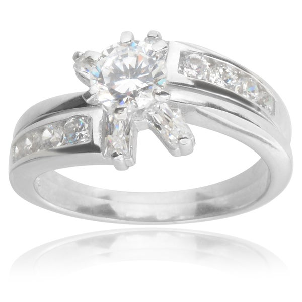 journee collection sterling silver cubic zirconia bridal