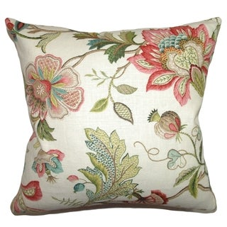 Adele Crewels Down Filled 18-inch Throw Pillow Multi
