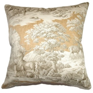 Feramin Toile Down Filled Throw Pillow Safari Back