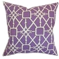 Birao Geometric Down Fill Throw Pillow Purple