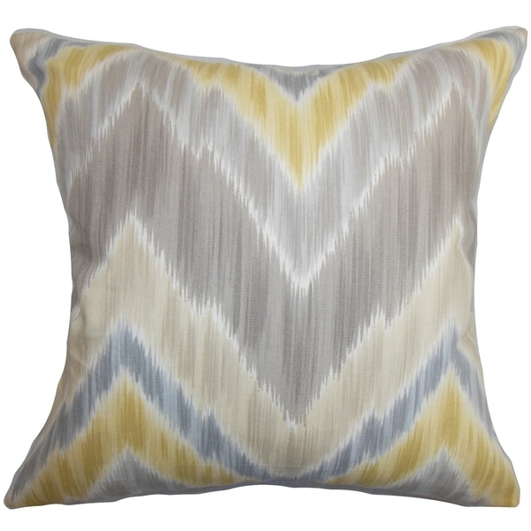 Caltha Zigzag Down Fill Throw Pillow Grey