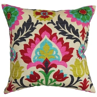 Tahsis Floral Down Fill Throw Pillow Multi