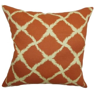 Cyrilla Chain Down Fill Throw Pillow Tangerine