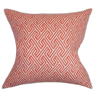 Graz Geometric Down Fill Throw Pillow Coral