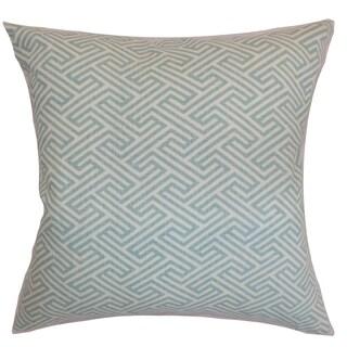 Graz Geometric Down Fill Throw Pillow Sky Blue