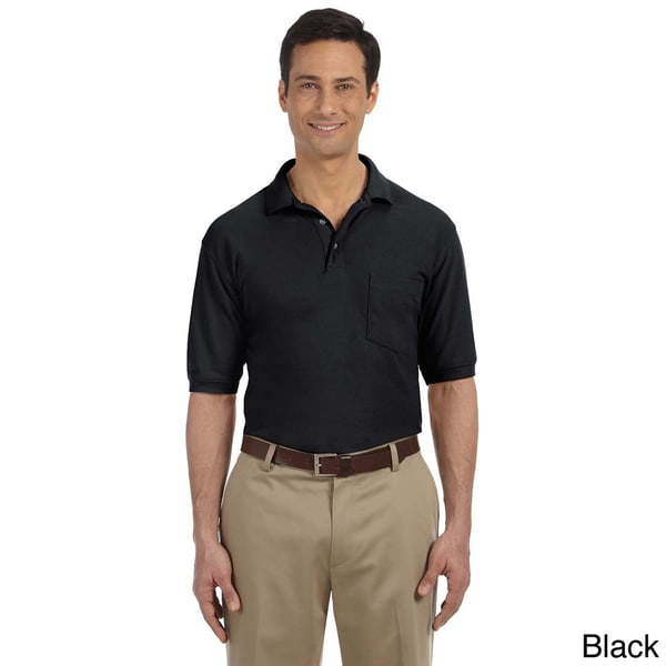 Men's 5.6-ounce Easy Blend Polo with Pocket