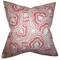 Glynis Floral Down Filled Throw Pillow Mint Red
