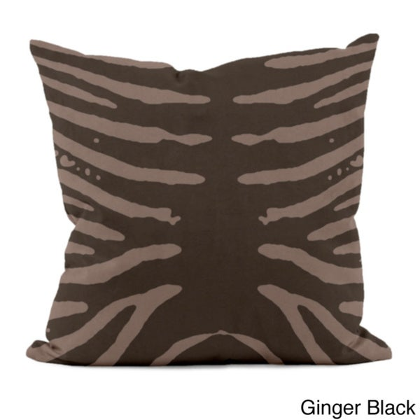 18 x 18-inch Animal-inspired Printed Decorative Throw Pillow