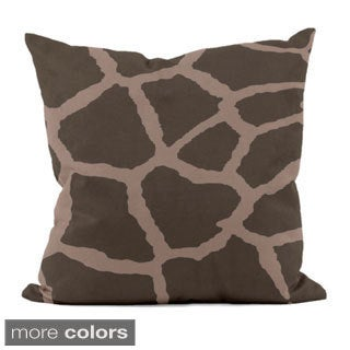 16 x 16-inch Abstract Animal Print Decorative Throw Pillow