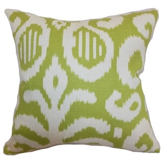 Hohenems Ikat Down Filled Throw Pillow Lime