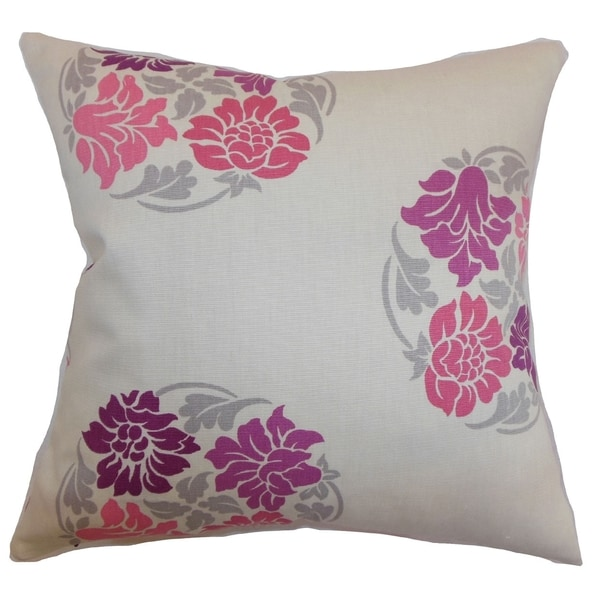 Ihosy Floral Down Filled Throw Pillow Sangria