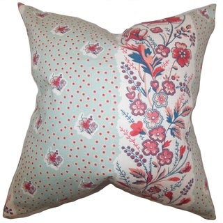 Elske Floral Down Filled Throw Pillow Sea Green