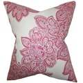 Haldis Floral Down Filled Throw Pillow Rose
