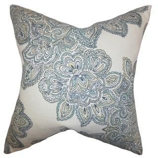 Haldis Floral Down Filled Throw Pillow Sea Green