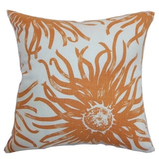 Ndele Floral Down Filled Throw Pillow Papaya