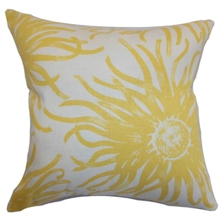 Ndele Floral Down Filled Throw Pillow Yellow